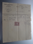 LEMAIRE-BOURLARD Mariembourg ( Industriel ) 1925 > Tichon Mariembourg - Factuur ( Tax ) ! - Belgium