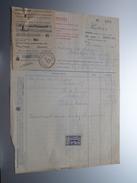 FOURS PIETERS Bruxelles ( Industriel ) 1925 > Gravier Frasnes - Factuur ( Tax ) ! - Belgium