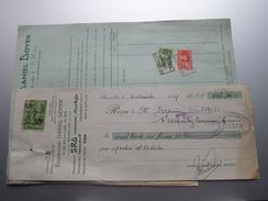 DANIEL DOYEN Bruxelles ( SRD - RUSCO - Técalémit - Prest-O-Lite ) 1929 > Gravier Frasnes - Factuur + Reçu ( Tax ) ! - Belgium