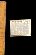 Petit Mini Calendrier 1922 PAPETERIE BOUCHARD 27 Rue Centrale LYON - Calendars