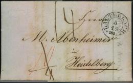 1850, LAUTERBACH, Faltbrief Nach Heidelberg. - Baden