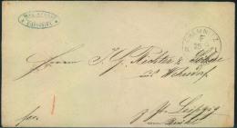 1869, CHEMNITZ F N 1, Seltener Violetter Francostempel Auf Brief Nach Leipzig. - Sachsen