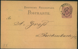 1879, HUNDSHÜBEL, Spät Nachverwendeter K2 Auf 5 Pfg. Ganzsachenkarte - Sachsen