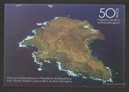 Portugal Carte Entier Postal Iles Selvagens Madère Visite Président 2013 Postal Stationery Selvagens Islands Madeira - Islas