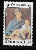 DOMINICA  1975, SCOTT # 449   CHRISTMAS  VIRGIN  & CHILD   MNH - Dominique (1978-...)