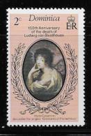 DOMINICA  1977, SCOTT # 529     150 Anniv. Of The Death Of Beethoven  Mnh - Dominique (1978-...)