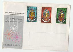 1972 RHODESIA FDC Stamps CHRISTMAS Cover - Christmas