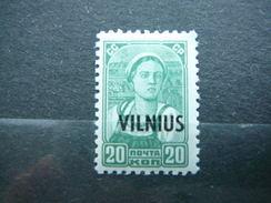 Vilnius Lietuva Litauen Lituanie Litouwen Lithuania MLH 1941 Mi. 13 * - Lithuania
