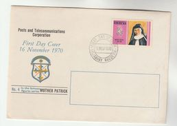 1970 RHODESIA FDC Stamps MOTHER PATRICK Cover Religion Christianity - Rhodesia (1964-1980)