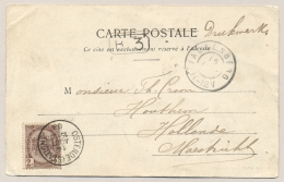 België - 1903 - 2 Cent Rijkswapen Op Ansicht Van Ostende (station) Naar Valkenberg / Nederland - 1893-1907 Coat Of Arms
