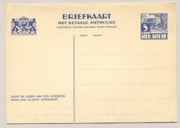 Nederlands Indië - 1935 - 5+5 Cent Karbouwen, Briefkaart G58, Ongebruikt / Unused - Nederlands-Indië