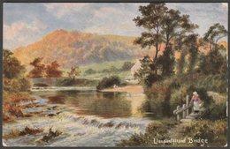 Artist Drawn - Llansantffraid Bridge, Montgomeryshire, 1907 - Hildesheimer Postcard - Montgomeryshire
