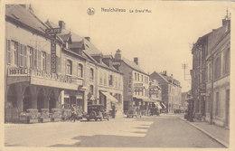 Neufchâteau - La Grand'Rue (top Animation, Oldtimer, Hôtel, Café, Pompe à Essence,..., Franchise Militaire) - Neufchâteau