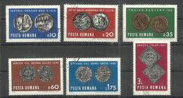 """Rumänien 2850-2855 """"6 Briefmarken Im Satz Zu Alten Münzen"""" Gestempelt Mi. 1,60 - Oblitérés"""