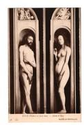 "ART . TABLEAU . HUBERT ET JEAN VAN EYCK . "" ADAM ET ÊVE "" . Musée De Bruxelles - Réf. N°3033 - - Malerei & Gemälde"