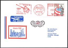 CZECH REPUBLIC PRAGUE 1996 - METER / EMA - OLYMPIC GAMES ATLANTA 1996 - HORINER MELBOUNE '56 - MEDAL IN SHOOTING - Tiro (armi)