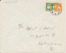 Denmark Cover Nörre Alslev 6-9-1936 With 2 Hans Christian Andersen Stamps - Lettere