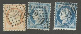 FRANCE - N°YT 38/60A/60C GC 2240 MARSEILLE - COTE YT : 14€ - 1870/74 - France