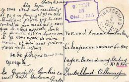 "WO 2 KRIEGSGEFANGENENPOST ""TRAZEGNIES 5.X.1940""  Naar  ""geprüft / 15 / STALAG XI A "" ( XI A = ALTENGRABOW) - WW II"