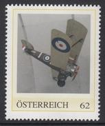 ÖSTERREICH 2016 ** 1. Weltkrieg - Sopwith F.1 Camel - Britisches Jagdflugzeug -  PM Personalized Stamps MNH - 1. Weltkrieg
