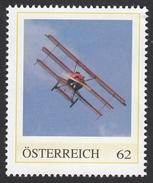 ÖSTERREICH 2016 ** 1. Weltkrieg - Dreidecker Fokker Dr.I - Pilot Manfred V.Richthofen - PM Personalized Stamps MNH - 1. Weltkrieg
