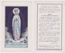 Image Pieuse Grande Neuvaine De L'Immaculée Conception(30-11 Au 8-12) 1-09-1941 - Religion & Esotericism