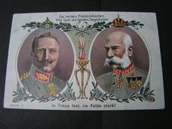 2 Kaiser Karte ,  Aus Pobershau  1915 - Familias Reales