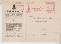 E.M.A. Affrancature Meccaniche Rosse Regno 20/12/1939 Ubersee Post J.J. ARND  Deutsche Reichspost - Marcophilie - EMA (Empreintes Machines)