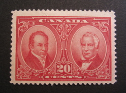 LOT R1703/393 - 1927 - CANADA - PERSONNAGES HISTORIQUES - N°128 - NEUF * - Cote : 19,00 € - 1911-1935 George V