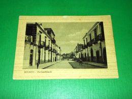 Cartolina Bitonto - Via Castelfidardo 1950 Ca - Bari