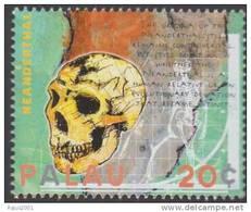 Neanderthal  Skull, Skeleton,  Archaeology, Graph Chart, MNH Palau - Archeologia