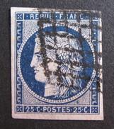 LOT OE/150 - CERES N°4a Bleu Foncé - GRILLE NOIRE - Cote : 70,00 € - 1849-1850 Ceres