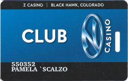 Z Casino - Black Hawk, CO USA - Slot Card - Casino Cards