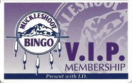 Muckleshoot Casino - Auburn WA - Bingo VIP Membership Card - Casino Cards