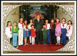 Nord KOREA 1988 - Kim Il Sung Mit Kinder - Block 233 - Korea (Nord-)