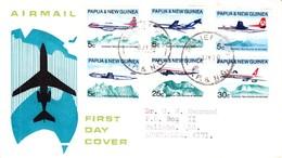 Papau New Guinea FDC Aircraft: 08/07/1970 - Papua Nuova Guinea