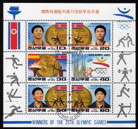 KOREA Nord 1992 - Olympische Spiele Barcelona / Goldmedaillengewinner - Kleinbogen - Korea (Nord-)