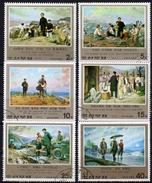 KOREA Nord 1976 - Gemälde / Geschichte Der Revolution Kim IL Sung - Kompletter Satz MiNr.1563-1568 - Korea (Nord-)