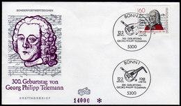 BRD 1981 - Georg Philipp TELEMANN / Komponist, Composer - FDC - Musik