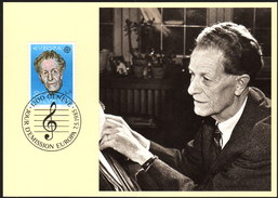 SCHWEIZ 1985 - Frank MARTIN, Komponist, Composer / Europa CEPT - MC Maxikarte - Musik
