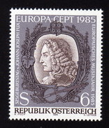 ÖSTERREICH 1985 ** Johann Joseph Fux / Komponist, Composer / Europa CEPT - MNH - Musik