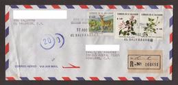 El Salvador, Cover Sent From San Salvador-Danli With Fauna Stamps, Medicinal Plants, 1994 - El Salvador