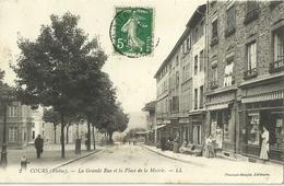 Cours La Grande Rue Et La Place De La Mairie - Cours-la-Ville