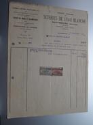 SCIERIES De L'EAU BLANCHE Mariembourg ( Fabrique ) ( Facture / Tax ) 1925 > Frasnes ! - Belgium