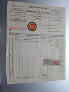 Comptoir Belge Du CARBURE De CALCIUM Bruxelles ( CBC ) ( Facture / Tax ) 1925 > Frasnes ! - Belgium