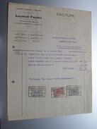 LAURENT Frères Boussu-lez-MONS (Filatures, Corderies & Cableries ) ( Facture / Tax ) 1924 > Gravier Frasnes ! - Belgium