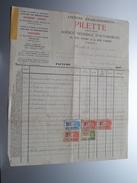 PILETTE Bruxelles ( Automobiles HUDSON - ESSEX / PACKARD ) ( Facture / Tax ) 1932 > Gravier Frasnes ! - Cars