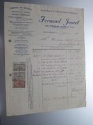 Fernand JOURET Jette-lez-Bruxelles ( D'Huiles ) ( Facture / Tax ) 1924 > Gravier Frasnes ! - Belgium