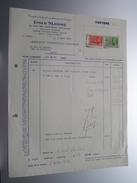 Emile SLOSSE Bruxelles ( Materiaux Technique ) ( Facture / Tax ) 1939 > Intercom. Rance ! - Belgium