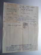 Henri MATHOT Mariembourg ( Graines / Farines ) ( Facture / Tax ) 1924 > Tichon ! - Alimentaire